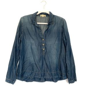 Cloth & Stone Tencel Popover Shirt Chambray Denim